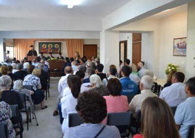 Την εκδήλωση προς τιμήν του Αγίου Κοσμά του Αιτωλού παρακολουθούν τα μέλη και φίλοι του Ι. Συνδέσμου