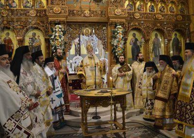 Μακαριώτατος Πατριάρχης Αλεξανδρείας κ.κ. Θεόδωρος Β΄ με Αρχιερείς τελεί το μνημόσυνο του παπα-Κοσμά Γρηγοριάτη