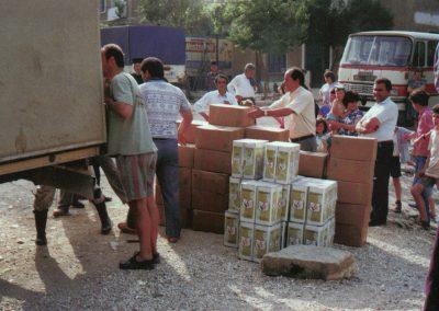 Διανομή βοήθειας στο ελληνόφωνο χωριό Μπίστριτσα