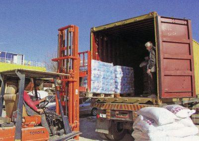 Φόρτωση της ανθρωπιστικής βοήθειας για τη Μαδαγασκάρη