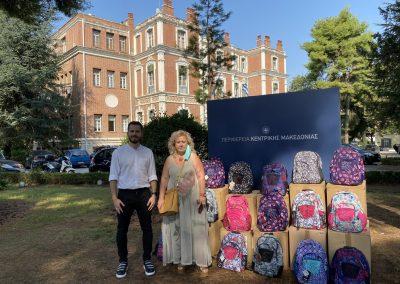 Διάθεση 700 σχολικών σακιδίων για τα παιδιά ενδεών οικογενειών