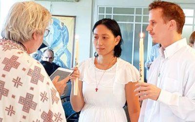 Οικογενειακή βάπτιση στην Ταϊβάν